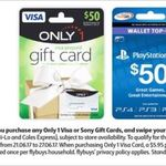 2,000 Bonus Flybuys (Worth $10) on Any Only 1 VISA Gift Card or Sony PlayStation Store Gift Card @ Coles