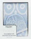 Bubba Blue Owl Knit Blanket and Beanie Set Blue or Pink Color $12 (Was $37) @ Harvey Norman Free Delivery