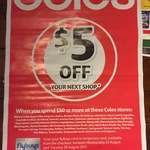 $5 off Your Next Shop When You Spend $50 @ Coles (Selected QLD & NSW Stores)
