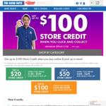 Spend $150 Get $20 Store Credit, Spend $350 Get $50 Store Credit, Spend $650 Get $100 Store Credit @ The Good Guys