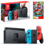 Nintendo Switch Neon & Super Mario Odyssey Bundle $435.6 Delivered @ The Gamesmen eBay