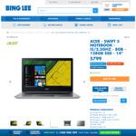 "Acer Swift 3 14"" Notebook Laptop i5-7200U 128GB SSD 8GB RAM Full HD $799 with Bonus Canon PIXMA wifi printer @ Bing Lee"