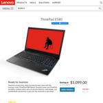 "ThinkPad E580 15.6"" FHD, i7-8550U, 8GB/256GB, RX550 $1099 Delivered from Lenovo. 3yr Onsite $170"