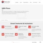 Telecube NBN Offers - e.g. 100/40 1000GB $70 Per Month - No Contract, $0 Setup
