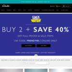 Clarks Shoes - Buy 2 Save 40%