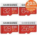 Samsung EVO Plus Micro SD Card 32GB $16.76 | 64GB $28.72 | 128GB $54.56 | 256GB $127.60 Shipped @ PC Byte eBay