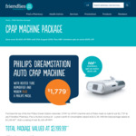 [WA] Philips DreamStation Auto CPAP Machine Package - $1,779, $959 for HBF Members (Valued at $3,199.99+) - Friendlies Pharmacy