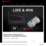 Win 1 of 2 Thermaltake Premium X1 RGB Gaming Keyboards (Silver $209/Blue $199) from Cherry MX/Thermaltake