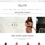 Free Shipping Sitewide (No Minimum Spend) @ City Chic