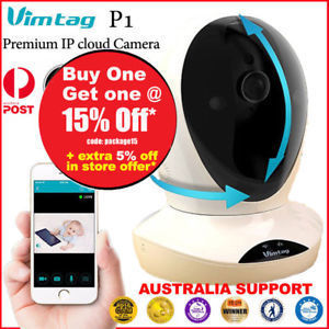 Vimtag P1 Premium 960P IP Security Wi-Fi Camera 360 Degree Rotatable