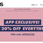 20% off In-App Purchases @ ASOS