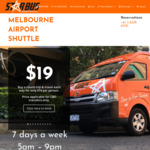 [VIC] Starbus Shuttle Transfer Service from/to Melbourne Airport 10% off