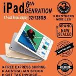 Apple iPad 6th Gen 128GB Wi-Fi + Cellular Space Grey Unlocked AU Stock $638.10 + Free Shipping (20% off RRP) @ 3 Brothers eBay