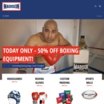 50% off Boxing Equipment! (Excluding Punch Bags) @ Madison Sport