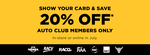 20% off RRP @ Repco for Auto Club Members in July