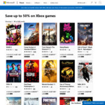 [XB1, Xbox Live Gold] Microsoft Store: Save up to 50% on Xbox Games