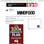 Win 1 of 10 Copies of The 100k Property Plan Worth $24.95 from MiNDFOOD