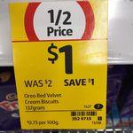 Oreo 137g Varieties $1 @ Coles