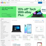 [eBay Plus] 15% off Selected MacBooks, AirPods, iPads, Monitors, Laptops, Mobiles & More @ Wireless 1, Allphones, Gearbite eBay