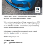 [VIC] Free Lunch at BMW 1 Unveiling Event @ Breslin Bar and Grill (Southbank, Melbourne)