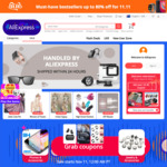 AliExpress 11/11 Sale: $10 off $50 US, $20 off $100 US, $30 off $120 US, $50 off $100 US Sitewide + More @ AliExpress