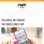 [VIC, NSW] Free Poké Bowl, from 26/11 with Pokéd App (for Customers Who Has Not Yet Received a Free Gift)