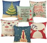 AstiVita Christmas Throw Pillow Covers - Pack of 6 $5, Christmas Chair Covers - Pack of 4 $5.39 Delivered @ Amazon