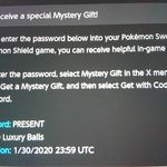 [Switch] 10 Free Luxury Balls on Pokémon Sword/Shield via in-Game Mystery Gift