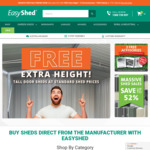 Massive Shed Sale at EasyShed.com.au | Save up to 52% with Free Extra Height + 3 Free Accessories + Free Delivery to 170 Depots