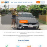 1-Year Free GoStudent & $20 off First Booking for Students @ GoGet