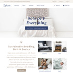 50% off at Bhumi (Organic Cotton/Linen Bedding/Sheets/Towels/etc)