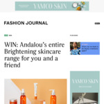 Win Two Sets of Andalou's Brightening Skincare Range from Fashion Journal