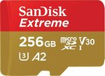 SanDisk Extreme 256GB MicroSD Card $65 (Free Delivery, Prime Not Required) @ Amazon AU