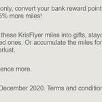 Convert Bank Reward Points For 15% Bonus KrisFlyer Miles @ Participating Banks