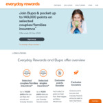 Woolworths Rewards: up to 90,000 / 140,000 Points for New Bupa Members