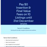 [eBay Plus] Pay $0 Insertion & Final Value Fees on 10 Listings @ eBay
