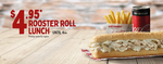 $4.95 Rooster Roll Lunch @ Red Rooster (until 4pm)