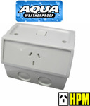 HPM AQUA Weatherproof IP53 Single Switched Powerpoint GPO Outlet Socket $15 + Free Delivery @ Eeet5p via eBay