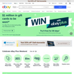 $10 off $20 Min Spend with AfterPay on Eligible Items (Updated Terms) @ eBay