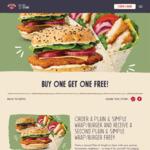 2x Plain & Simple Burgers or Wraps for $11.90 (Was $11.90 Each) @ Schnitz via Website or App
