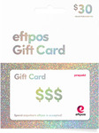Purchase Fee Waived on Physical EFTPOS Gift Cards ($30-$200 Denominations, Up to $1000) + Free Express Shipping @ TCN