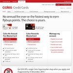 Get $50 off Your Coles Shop with a New Coles MasterCard