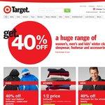 40% Off Women's, Men's & Kids' Winter Clothing, Sleepwear, Footwear & Accessories @ Target