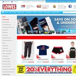 Lowes 20% off Everything!