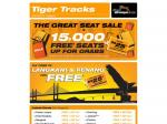 Tiger Airway Free 15000 Seats to Grab (Depart from Singapore)