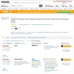 Logitech K400R White, Amazon, US $19.99 + $8.16 Shipping = $28.15 or AUD $32.38