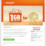 Amaysim 1GB Data Pack $1 - First Month