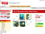 1 Set of Microfiber Perfect Glass Cleaner, Pick up for free $0.00.