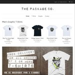 3 Men's T-Shirts for $75 with Free Shipping @ The Package Co