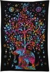 50% Off on Multi-Color Tree Of Life Elephant Wall Tapestry - A$17.45 + Extra 5% Off Using Coupon Code @ Rajrang